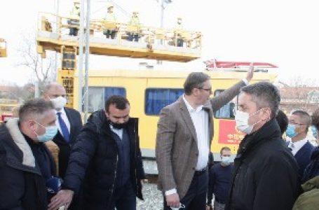 Vučić u kontroli radova na brzoj pruzi: Ovo je drugo lice Srbije